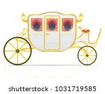 royal carriage for... | Shutterstock .eps vector #1031719585