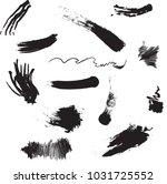 vector black paint  ink brush... | Shutterstock .eps vector #1031725552