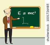 teacher explaining relativity... | Shutterstock .eps vector #1031726485
