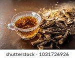 ayurvedic herb liquorice root... | Shutterstock . vector #1031726926