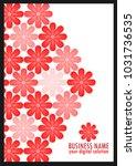 abstract red flower design | Shutterstock .eps vector #1031736535