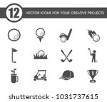 golf vector icons for your... | Shutterstock .eps vector #1031737615