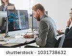 businessman working with... | Shutterstock . vector #1031738632