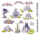 fantasy adventure map elements...   Shutterstock .eps vector #1031740696