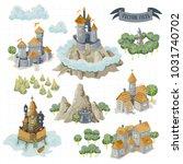 fantasy adventure map elements... | Shutterstock .eps vector #1031740702