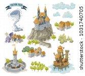 fantasy adventure map elements...   Shutterstock .eps vector #1031740705