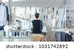 female fashion  designer  ... | Shutterstock . vector #1031742892