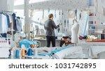male fashion  designer   pins... | Shutterstock . vector #1031742895