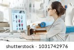 beautiful fashion  designer  ...   Shutterstock . vector #1031742976