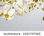 gift 3d background. festive box ... | Shutterstock .eps vector #1031747365