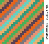pattern with knitted zigzag | Shutterstock .eps vector #103175786