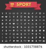 sport large set of simple... | Shutterstock .eps vector #1031758876