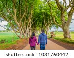 rear view of young couple... | Shutterstock . vector #1031760442