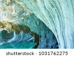 the marble caves of patagonia ... | Shutterstock . vector #1031762275