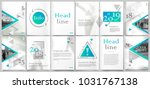 white book binder mockup. a4... | Shutterstock .eps vector #1031767138