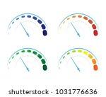 vector set of colored gauges...   Shutterstock .eps vector #1031776636