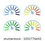 vector set of colored gauges... | Shutterstock .eps vector #1031776642
