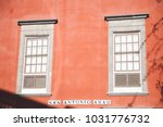 colored facades of the old... | Shutterstock . vector #1031776732