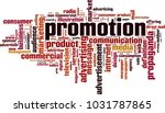promotion word cloud concept.... | Shutterstock .eps vector #1031787865