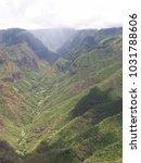 hawaiian landscapes  kauai ...   Shutterstock . vector #1031788606