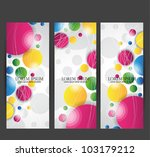 colorful web banners | Shutterstock .eps vector #103179212