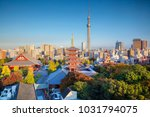 tokyo. cityscape image of tokyo ... | Shutterstock . vector #1031794075
