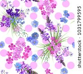 trendy floral pattern in the... | Shutterstock .eps vector #1031799595