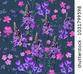 trendy floral pattern in the... | Shutterstock .eps vector #1031799598