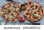 top view of tasty rustic... | Shutterstock . vector #1031800912