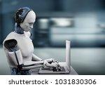 3d rendering humanoid robot... | Shutterstock . vector #1031830306