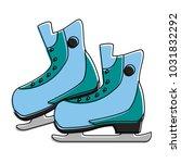ice skates winter sports... | Shutterstock .eps vector #1031832292