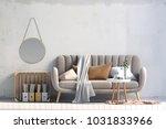 modern interior with coffee... | Shutterstock . vector #1031833966