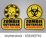 zombie outbreak biohazard...   Shutterstock .eps vector #103183742