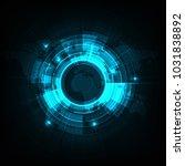 vector circle technology design ... | Shutterstock .eps vector #1031838892