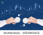 trading of currency pair... | Shutterstock .eps vector #1031841622