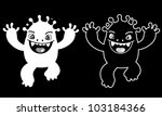 Funny Monster Character - stock vector