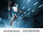 basketball player in motion or... | Shutterstock . vector #1031843968