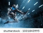 basketball player in motion or... | Shutterstock . vector #1031843995