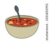 soup delicious food   Shutterstock .eps vector #1031852992
