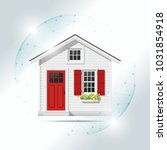 property insurance concept with ... | Shutterstock .eps vector #1031854918