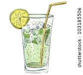 soda glass with citrus segment... | Shutterstock .eps vector #103185506
