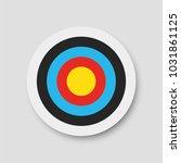 archery target. vector... | Shutterstock .eps vector #1031861125