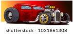 cartoon retro vintage red hot... | Shutterstock .eps vector #1031861308