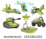 cartoon green military army... | Shutterstock .eps vector #1031861332