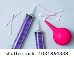 syringes and medical enema.... | Shutterstock . vector #1031864338