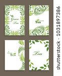 set of tea card templates with... | Shutterstock .eps vector #1031897386