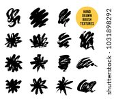 set of handdrawn vector ink... | Shutterstock .eps vector #1031898292