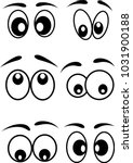 cartoon eyes icons set vector... | Shutterstock .eps vector #1031900188