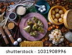 zongzi rice dumplings pork buns ... | Shutterstock . vector #1031908996