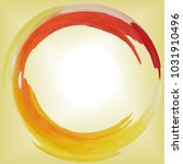 Round Frame Yellow  Red And...